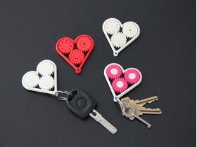 齿轮心钥匙环